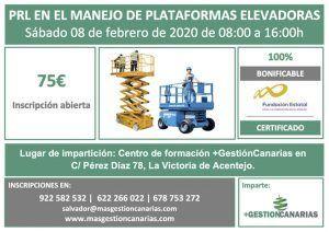Curso Plataformas Elevadoras en La Victoria