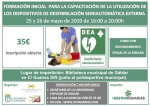Curso SVB y DESA desfibrilación en Gáldar