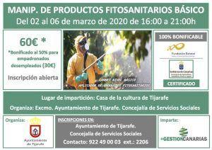 Curso de manipulador de productos fitosanitarios en Tijarafe