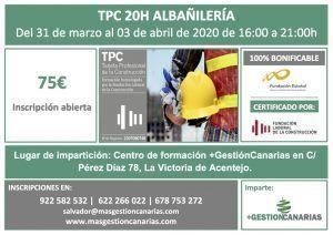 Curso de TPC albañilería 31 marzo 3 abril 2020