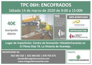 Curso de TPC encofrado en Tenerife