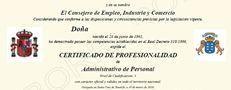Certificado de profesionalidad Canarias